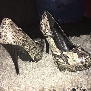 Charlotte Russe platform heels, size 6, Like New